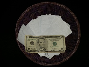 Full Tithe and Offering Basket
