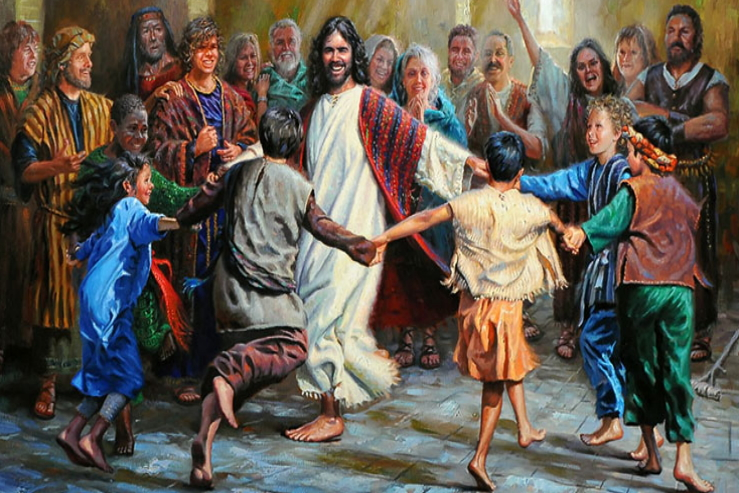 Jesus Dancing with Children