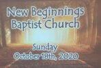 Sermon Oct 18